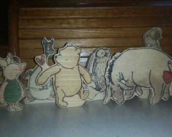 Winnie-the-Pooh Hand Made Wooden 8 Character Set - Classic Pooh