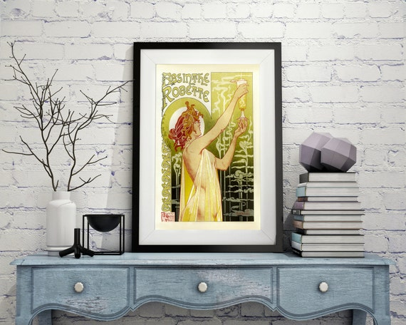 ART NOUVEAU Posters French Style Home Decor Wall Art Canvas Print