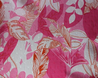 Pink Print Fabric by the Yard, Cotton Fabric Yardage, Fabric by the Yard, Yardage