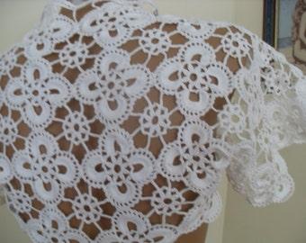 Lace Bolero Shrug, Bridal Shrug Bolero, Wedding Lace Shrug Cape,braut bolero, Wedding Cover Up Bridal Shawl white Crop Lace Top S M L
