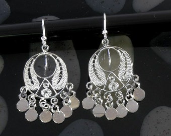 Filigran earrings 925 sterling silver  --  3945