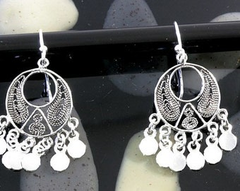 Filigran earrings 925 sterling silver  --  3618
