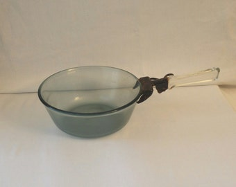 Antique Pyrex Cooking Pot with Glass Handle