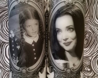 Wednesday and Morticia Candle Set (1964) Addams Family