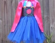 Baby Girls Frozen Princess Anna Tutu Dress - Princess Anna Costume - Size 0-10y