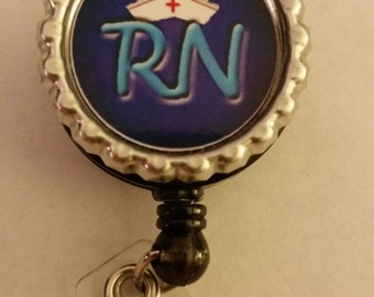 RN bottlecap id badge reel