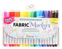 20 Fabric Markers, Tulip Medium Tip 20 Colored Fabric Paint Markers