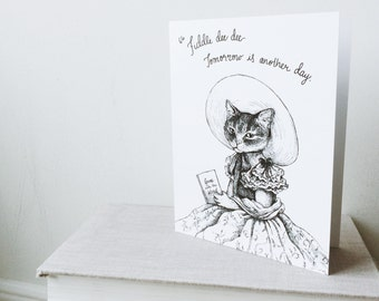 Gone with the Wind Cat Greeting Card