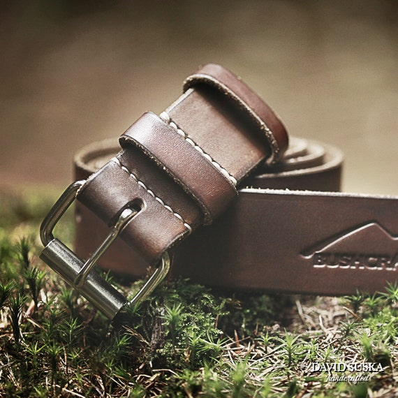 leather belt bushcraft belt outdoor nature robust heavy