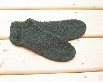Handknitted Wool Socks Hand Knit Ankle Wool socks Hand Knitted Wool socks for Women Feet 7 - 9 shoe size READY TO SHIP