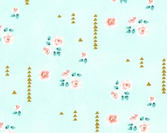 Rosemilk in Mint #MD6458 Brambleberry Ridge by Violet Craft for Michael Miller Fabrics REMNANT