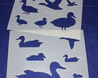 "Duck 8"" x 10"" - 2 Piece Stencils-  14 Mil  Mylar"