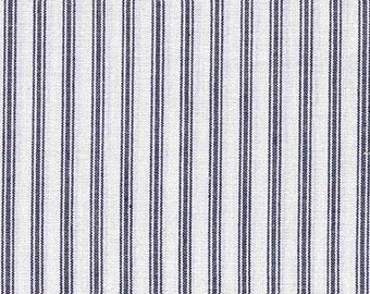 Navy Blue Ticking, Yarn Dyed, 1/4 Metre or more, online quilt fabric Australia