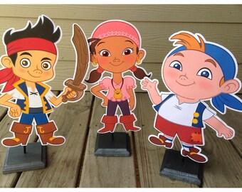 Captain Jake and the Neverland Pirate Birthday, Jake and the Neverland Pirate Centerpieces