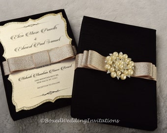 elegant boxed wedding invitation wedding invitation box invitation box couture invitation box - Unique Party Invitations