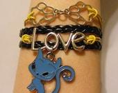 Cat bracelet, cat jewelry, kitty bracelet, kitty jewelry, fashion bracelet, fashion jewelry, leather cat bracelet, leather cat jewelry