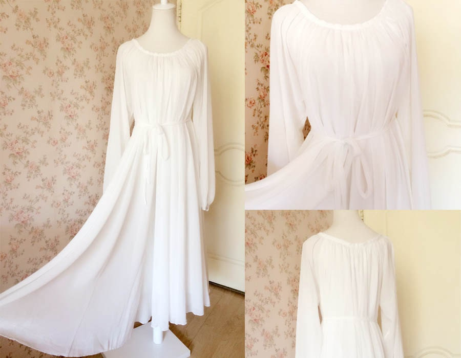 Muse White Dress. long sleeve Maxi dress, Plus Size Dress ...