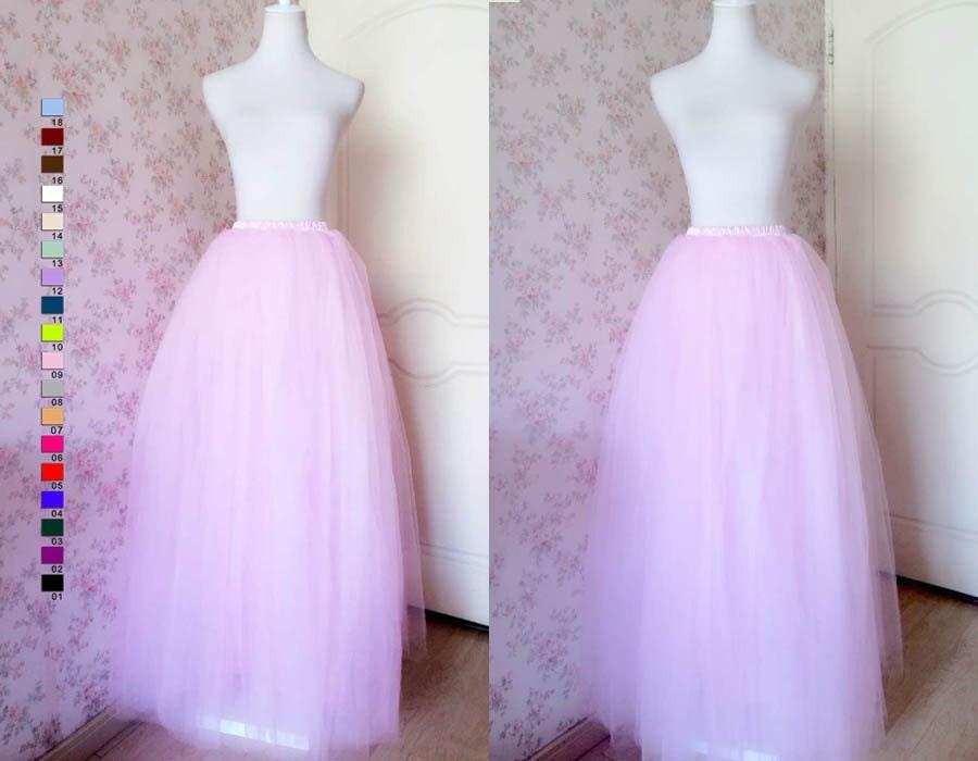 Plus Size Tutu Skirt /Pink Tutu Skirt /Women Maxi Tulle Princess ...