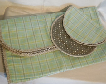 Handmade Flannel Recieving Blanket