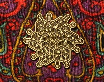 LSD Molecule Flower hat pin