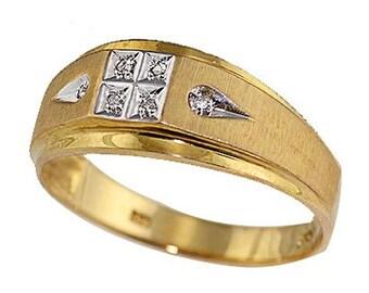 14k Yellow Gold Men's Ring (R529)