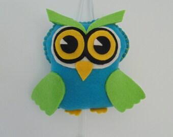 music owl (blue)