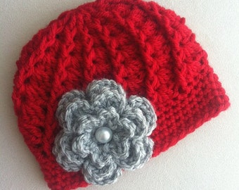 Ohio State Crochet Hat for Baby, Toddler, Kid, Buckeye Baby