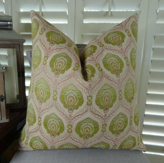 Light Green Decorative Pillow : Designer Decorative Throw Pillow Pink Light Green Geometric