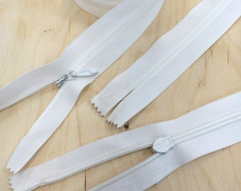 """25"""" #5 Invisible Zipper Bridal Sturdy, Durable, Wide and High Quality Ivory or White - Wedding Zipper"""