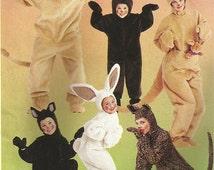 Adult animals costume pattern, size L, McCall's MP447 or M6106, bodysuit, front zipper, lion, rabbit, kangaroo, bear, cat, UNCUT