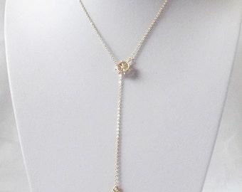 anchor lariat necklace nautical lariat necklace