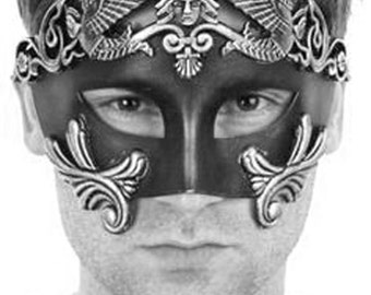 New Roman Men Warrior Venetian Masquerade Mask men, Masquerade Ball Mask (For Him)