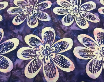 Andalucia Large Floral Batik From Batik By Mirah By the yard