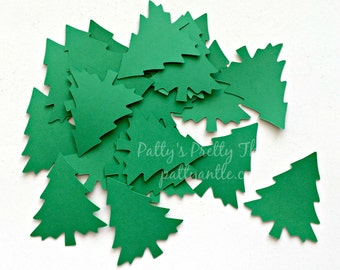Pine Tree Die Cuts, Pine Tree Confetti, Christmas Tree Die Cuts, Tree Die Cuts, Tree Confetti, Woodland Die Cuts, Forest Die Cuts, 20 Ct.