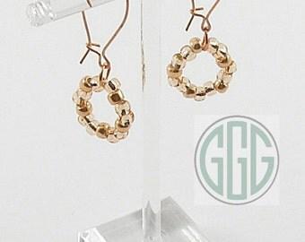 Earrings - Copper & Peach (E015)