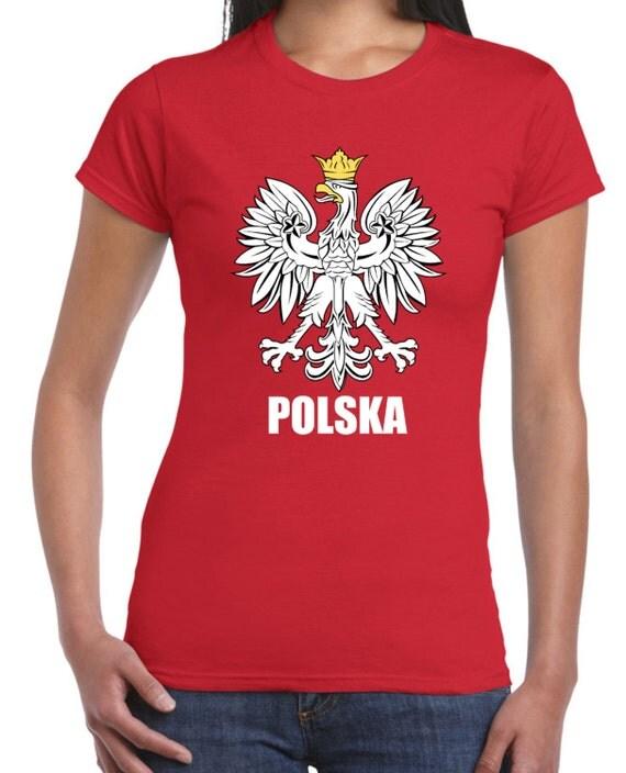 Polish eagle polska flag women 39 s t shirt for Polish t shirts online
