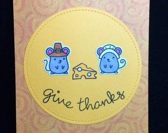 Give Thanks Thanksgiving Greeting Card