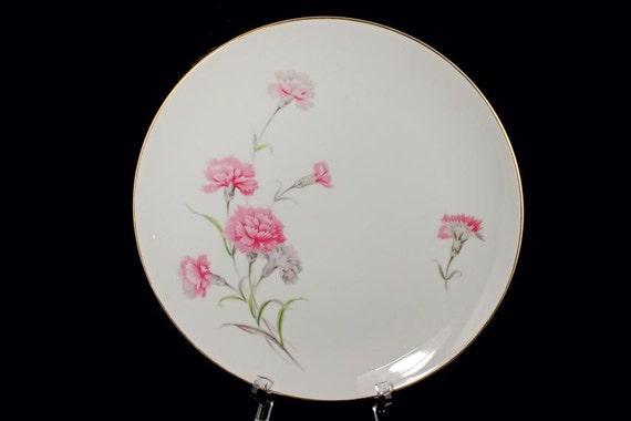 Dinner Plates Royal Court China Carnation Pattern Set of 2