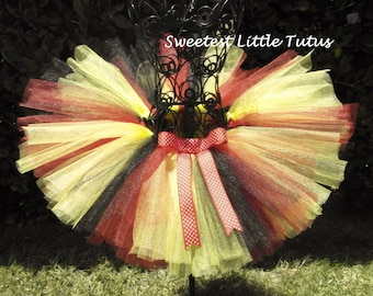 Red Black Yellow Tutu/ Birthday Tutu/ Cake Smash Tutu
