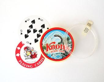 1970s Round Playing Cards Knott's Berry Farm Souvenir