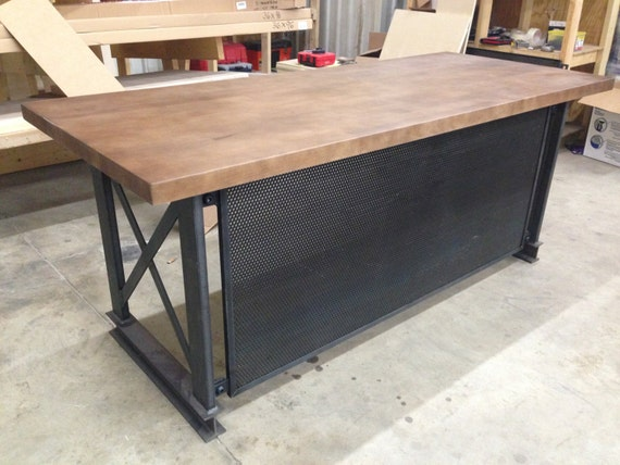 The Industrial Carruca Office Desk Large By IronAgeOffice