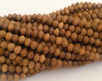 Saucer Robles Beads, saucer wood beads, Natural Wood Beads 5x6mm