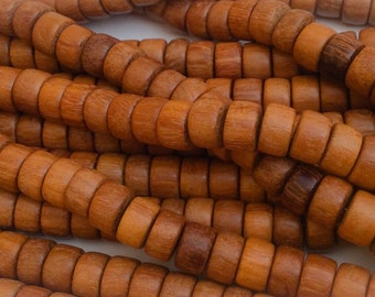 Rondelle Wood Beads Natural Wood Beads Dark Nangka10mm