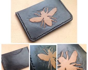 Credit card wallet Bee design
