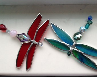 Stained Glass Dragonfly Suncatchers