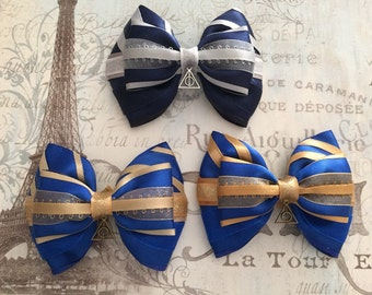 Harry Potter Hogwarts Ravenclaw Inspired Hair Bow [ONE item] - (4 in)