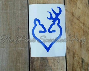 Browning heart deer decal browning decal