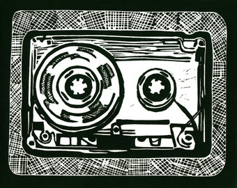 Cassette Tape Print - Dark Green 8x10 - Limited Edition [5]