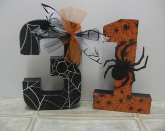 Halloween Decor-October 31-Halloween Paper Mache Letters-Halloween Shelf Sitter-Halloween Decorations