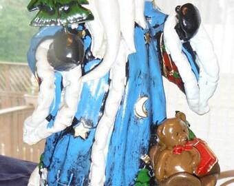 Blue Wizard Santa